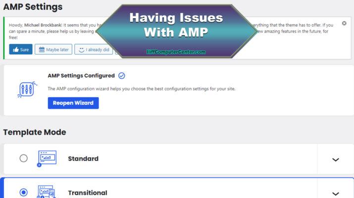 Having AMP Issues